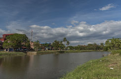 Siem Reap town in sunny day in Cambodia Stock Image