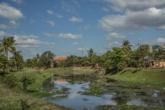 Siem Reap town in sunny day in Cambodia Stock Images