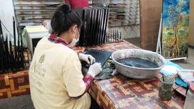 Siem- Reapeinheimisch-Leute Stockbild