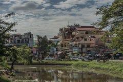 Siem- Reapstadt am sonnigen Tag in Kambodscha Lizenzfreies Stockbild