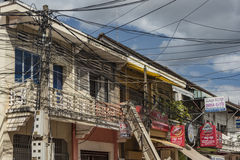 Siem- Reapstadt am sonnigen Tag in Kambodscha Stockfotos