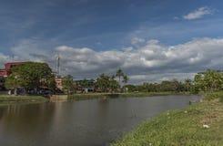 Siem- Reapstadt am sonnigen Tag in Kambodscha Stockbild