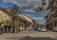 Siem- Reapstadt am sonnigen Tag in Kambodscha Stockfotografie