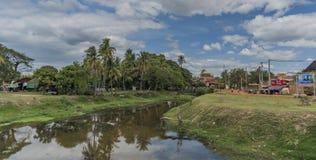 Siem- Reapstadt am sonnigen Tag in Kambodscha Lizenzfreie Stockfotos