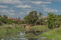 Siem- Reapstadt am sonnigen Tag in Kambodscha Lizenzfreie Stockfotografie