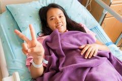 Siembra paciente femenina alegre Imagenes de archivo