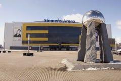 Siemens-Arena in Vilnius Lizenzfreie Stockfotos