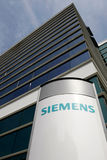 Siemens branch. Siemens logo and firm is displayed at the company's branch Royalty Free Stock Images