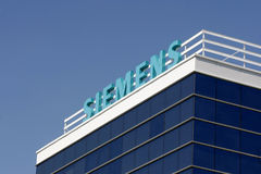 Siemens branch. Siemens logo and firm is displayed at the company's branch Royalty Free Stock Photos