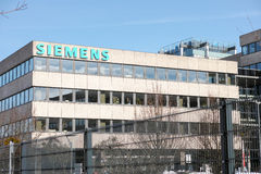 Siemens. Building in munich with copy space Royalty Free Stock Images
