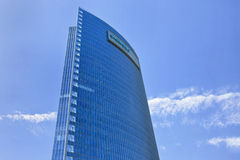 Siemens China headquarters against a blue sky. Royalty Free Stock Photos