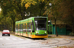 Siemens Combino in Poznan, Polen royalty-vrije stock fotografie