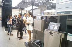 SIEMENS home appliance exhibition sales Royalty Free Stock Photo