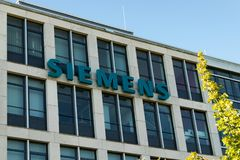 Dusseldorf Germany July 1st 2018: Siemens office building at airport duesseldorf stock images
