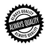 Siempre sello de goma de la calidad Imágenes de archivo libres de regalías
