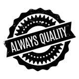 Siempre sello de goma de la calidad Imagenes de archivo