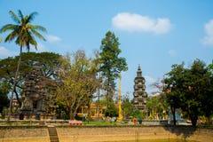 Siemreap,柬埔寨 寺庙 库存图片