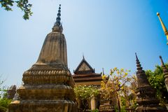 Siemreap,Cambodia.Temple and stupas. A beautiful old temple in the city Siemreap,Cambodia royalty free stock image