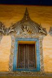 Siemreap,Cambodia.Temple.Window with beautiful patterns. A beautiful old temple in the city Siemreap,Cambodia stock photography
