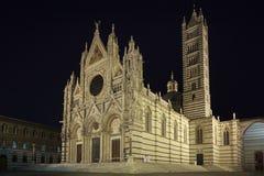 Siena圆顶在晚上 免版税库存照片