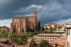 Siena. Church of San Domenico in Siena, Tuscany, Italy Royalty Free Stock Image