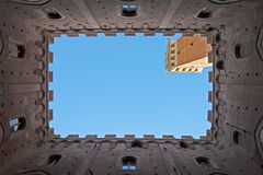 Siena. The Torre del Mangia is a tower in Siena, in the Tuscany region Stock Photography