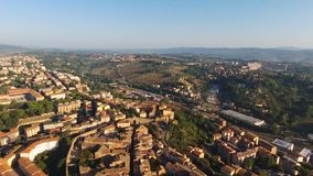 Siena aereal drone footage stock video