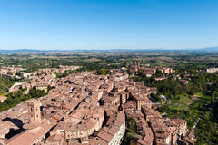Siena aerial view Royalty Free Stock Photography