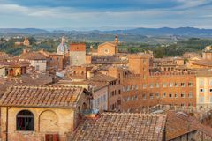 Siena. Aerial view of the city. Stock Photos