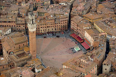 Siena. Aerial view of Siena city, i Tuscany Italy royalty free stock image