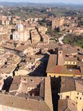 Siena. Aerial view of Siena from Torre del Mangia - Tuscany, Italy Royalty Free Stock Images
