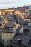 Siena afternoon panoramic city views Royalty Free Stock Images