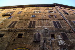 Siena afternoon panoramic city views Stock Photography