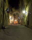Siena - aisle in the night Stock Photo