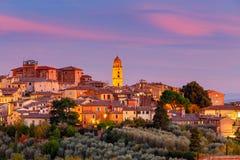 Siena Ansicht des alten Stadtbezirkes Stockbild