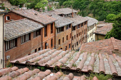Siena Architecture. The historic centre of Siena has been declared by UNESCO a World Heritage Site. It is one of the nation's most visited tourist attractions Stock Photography