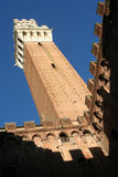 Siena berühmtester Kontrollturm Lizenzfreie Stockfotos