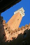 Siena berühmtester Kontrollturm Stockfoto
