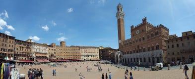 Siena campo square panorama 1 Royalty Free Stock Photography