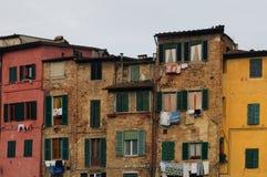 Siena, case Fotografie Stock