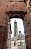 Siena cathedral. View of the Siena cathedral from a different angle Royalty Free Stock Image