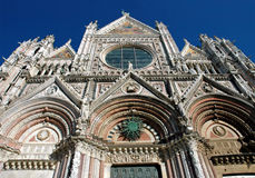 Siena Cathedral. The amazing front of the Duomo in Siena, Italy royalty free stock photo
