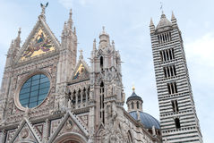 Siena Cathedral. Front facade of the Duomo in Siena Stock Photos