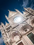 Siena Cathedral. Facade of Siena Cathedral (Duomo di Siena), Italy.Historoc centre of Siena is at Unesco World Heritage List Royalty Free Stock Photo