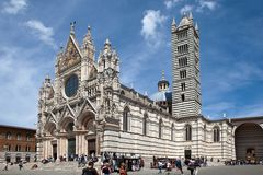 Siena. Cathedral of the Blessed Virgin Mary. Stock Photography