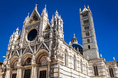 Siena Cathedral on a blue sky background Stock Images
