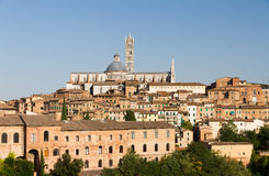 Siena cathedral cityscape Royalty Free Stock Images