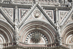 Siena Cathedral, dedicated to the Assumption of the Blessed Virgin Mary .Siena. Italy royalty free stock photo