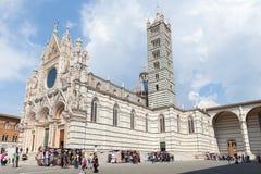 Siena Cathedral Duomo di Siena är en medeltida kyrka, det är A M. Royaltyfri Foto