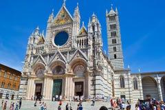 Siena Cathedral Duomo di Siena, catedral metropolitana del santo fotografía de archivo